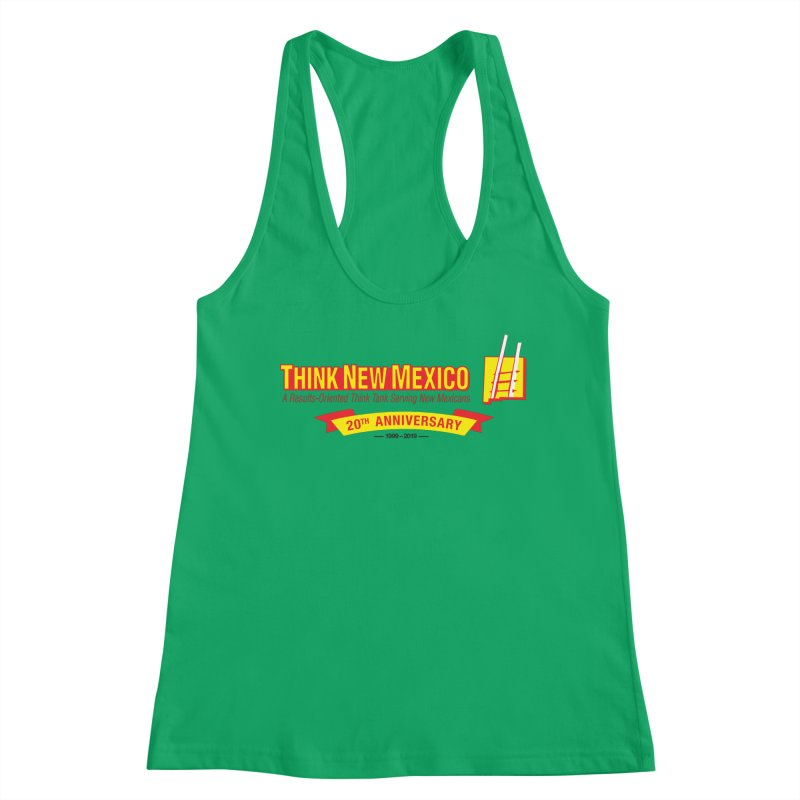 20th Anniversary Yellow Centered Banner Women's Tank by Think New Mexico's Artist Shop
