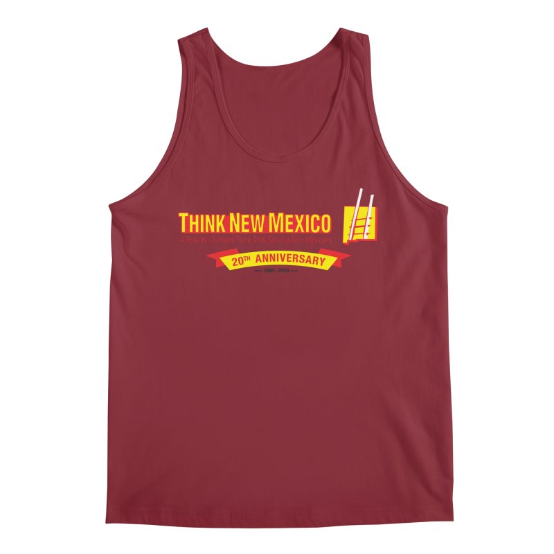20th Anniversary Yellow Centered Banner Men's Regular Tank by Think New Mexico's Artist Shop