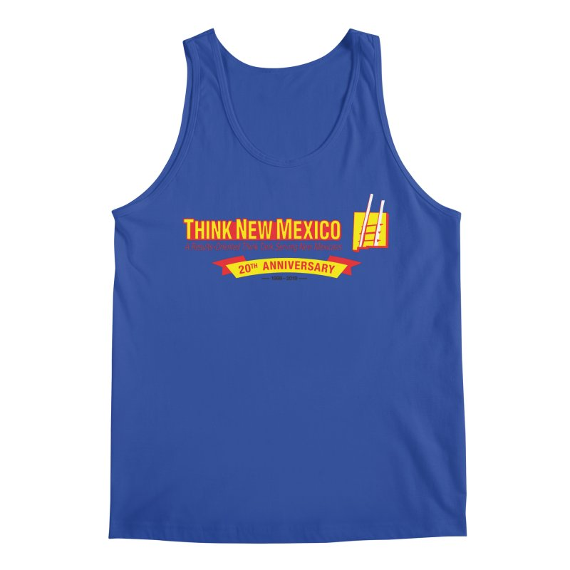 20th Anniversary Yellow Centered Banner Men's Tank by Think New Mexico's Artist Shop