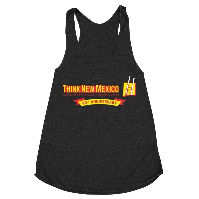 20th Anniversary Yellow Centered Banner Women's Racerback Triblend Tank by Think New Mexico's Artist Shop