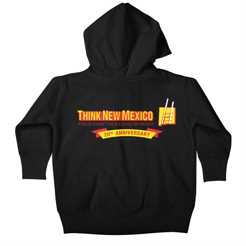 20th Anniversary Yellow Centered Banner Kids Baby Zip-Up Hoody by Think New Mexico's Artist Shop