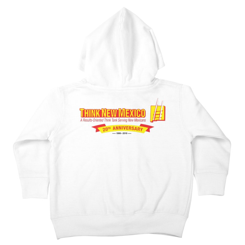 20th Anniversary Yellow Centered Banner Kids Toddler Zip-Up Hoody by Think New Mexico's Artist Shop