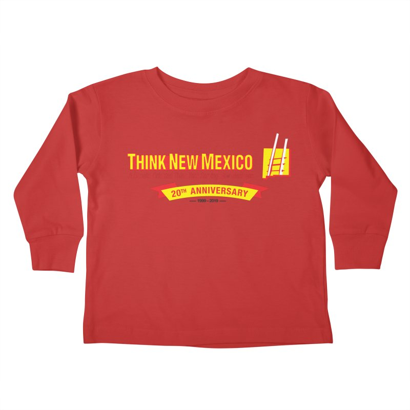 20th Anniversary Yellow Centered Banner Kids Toddler Longsleeve T-Shirt by Think New Mexico's Artist Shop