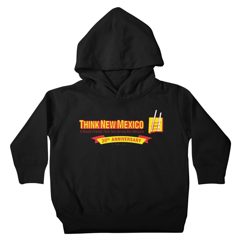 20th Anniversary Yellow Centered Banner Kids Toddler Pullover Hoody by Think New Mexico's Artist Shop