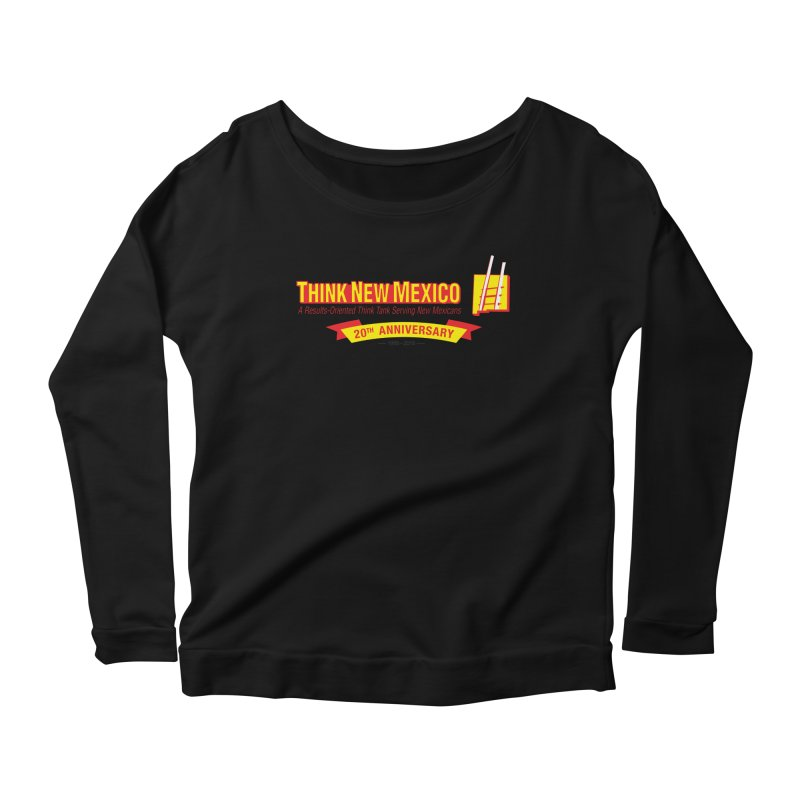 20th Anniversary Yellow Centered Banner Women's Scoop Neck Longsleeve T-Shirt by Think New Mexico's Artist Shop