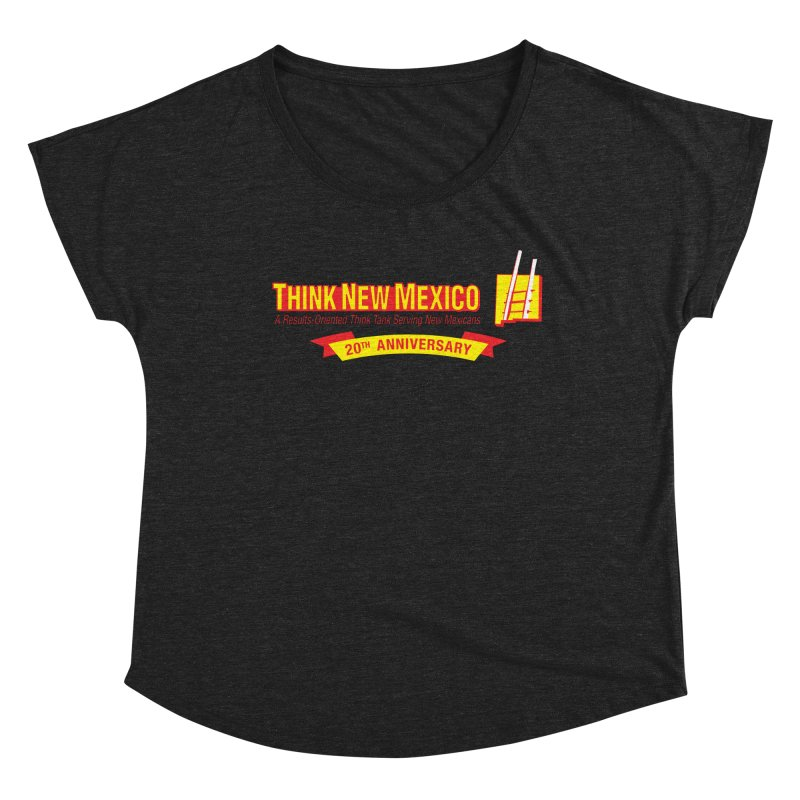 20th Anniversary Yellow Centered Banner Women's Dolman Scoop Neck by Think New Mexico's Artist Shop