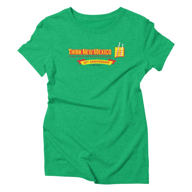 20th Anniversary Yellow Centered Banner Women's Triblend T-Shirt by Think New Mexico's Artist Shop