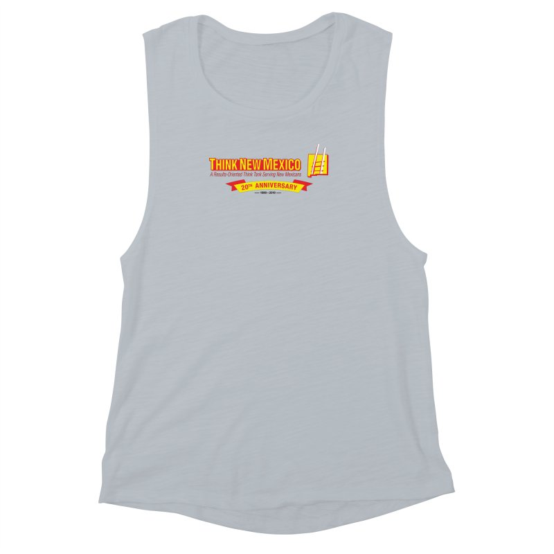 20th Anniversary Yellow Centered Banner Women's Muscle Tank by Think New Mexico's Artist Shop