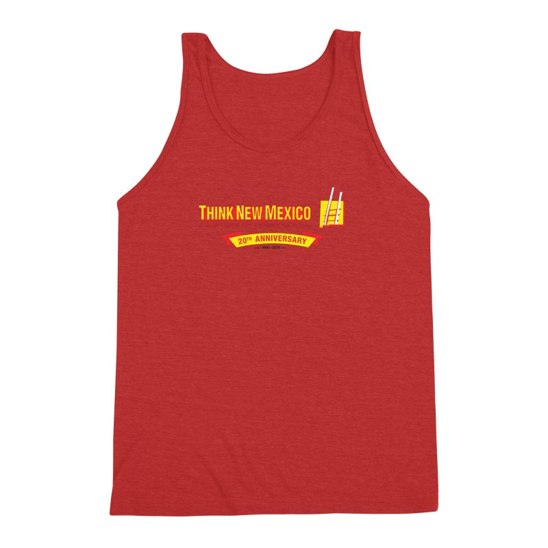 20th Anniversary Yellow Centered Banner Men's Triblend Tank by Think New Mexico's Artist Shop