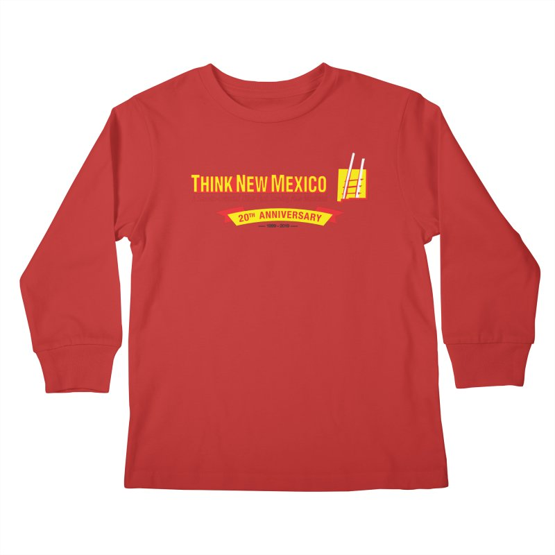 20th Anniversary Yellow Centered Banner Kids Longsleeve T-Shirt by Think New Mexico's Artist Shop