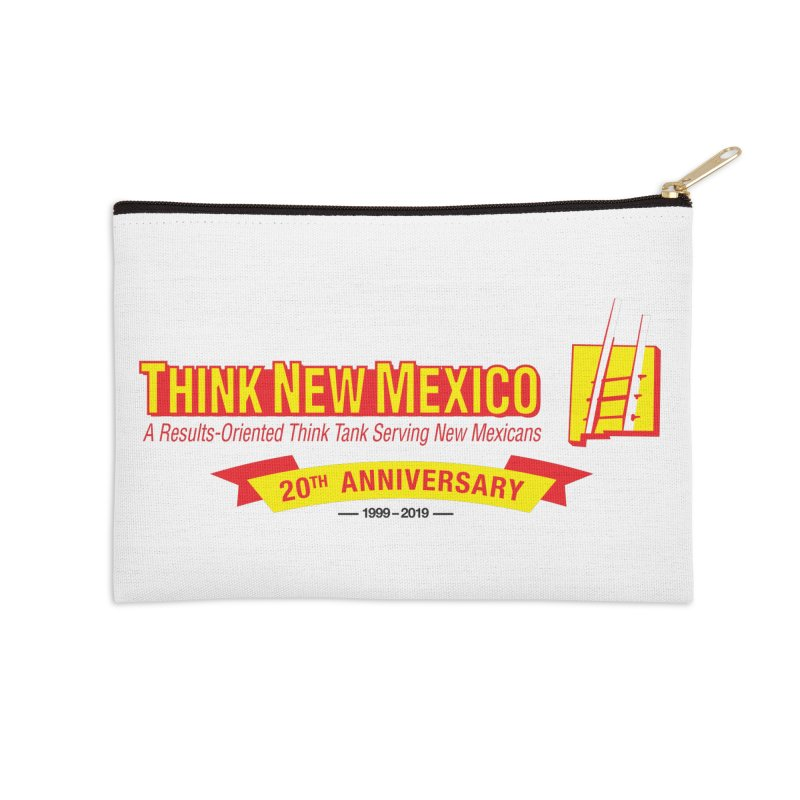 20th Anniversary Yellow Centered Banner Accessories Zip Pouch by Think New Mexico's Artist Shop