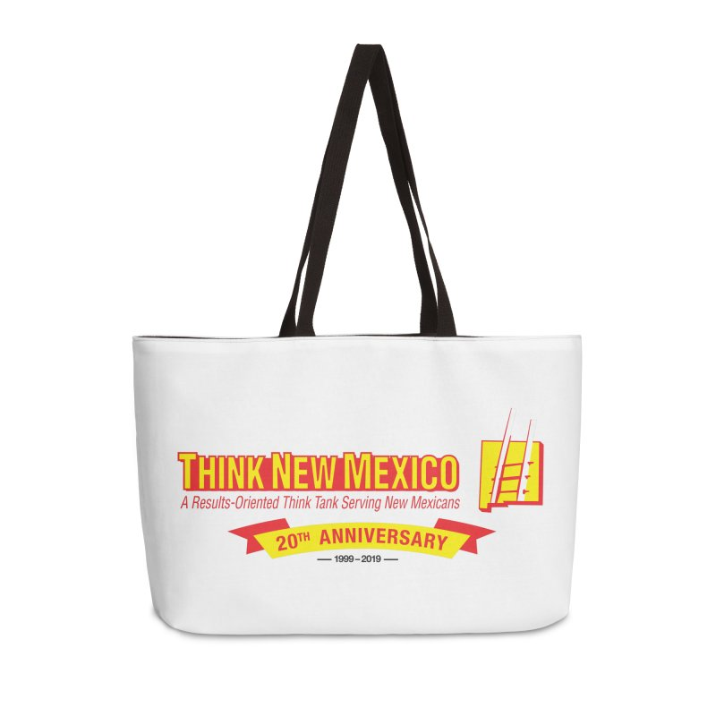 20th Anniversary Yellow Centered Banner Accessories Weekender Bag Bag by Think New Mexico's Artist Shop