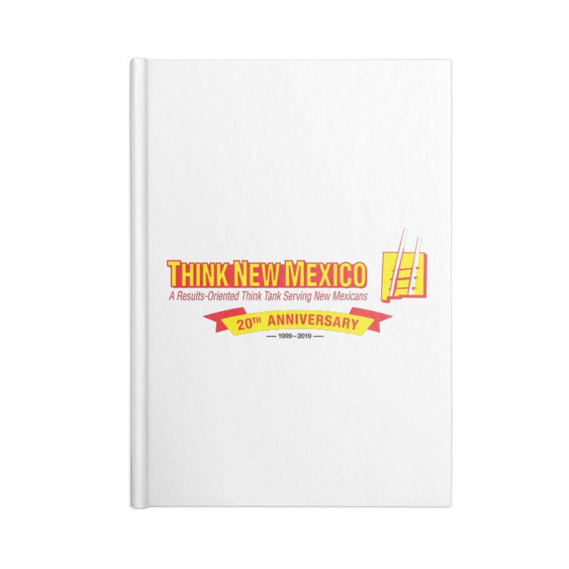 20th Anniversary Yellow Centered Banner Accessories Lined Journal Notebook by Think New Mexico's Artist Shop