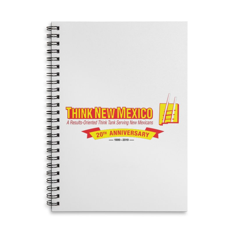 20th Anniversary Yellow Centered Banner Accessories Lined Spiral Notebook by Think New Mexico's Artist Shop