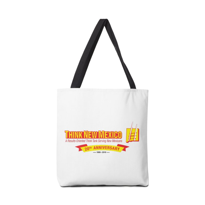 20th Anniversary Yellow Centered Banner Accessories Tote Bag Bag by Think New Mexico's Artist Shop