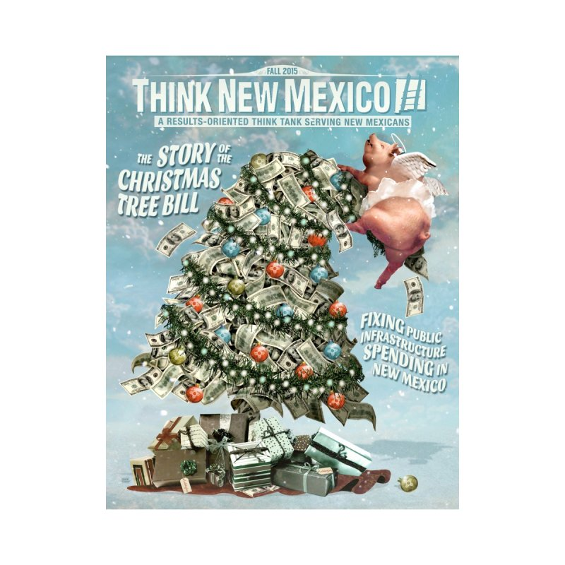 Think New Mexico Fall 2016 Capital Outlay Reform Report Cover Home Mounted Aluminum Print by Think New Mexico's Artist Shop