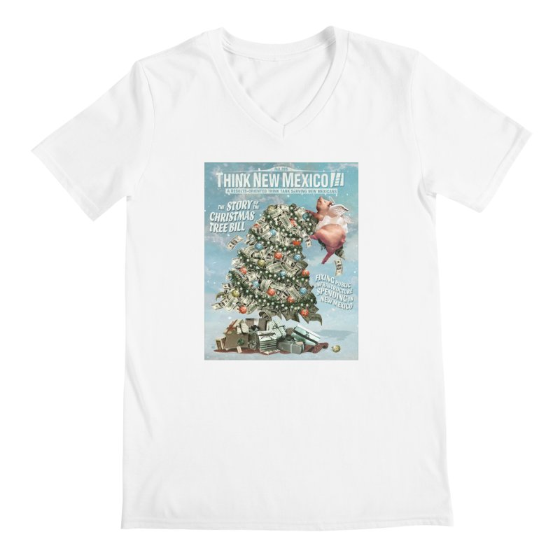 Think New Mexico Fall 2016 Capital Outlay Reform Report Cover Men's V-Neck by Think New Mexico's Artist Shop