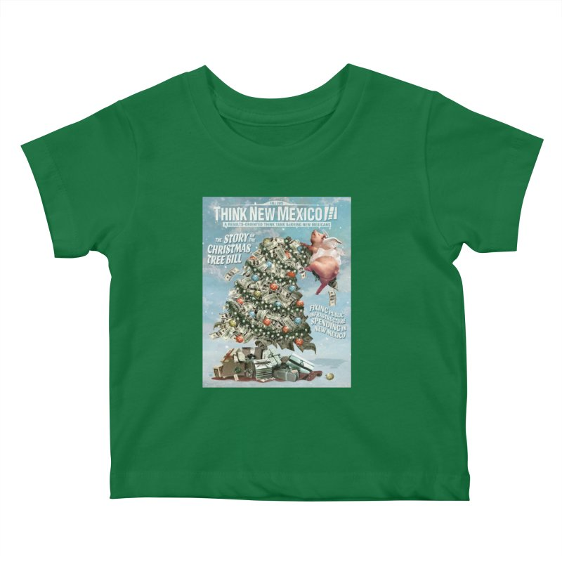 Think New Mexico Fall 2016 Capital Outlay Reform Report Cover Kids Baby T-Shirt by Think New Mexico's Artist Shop