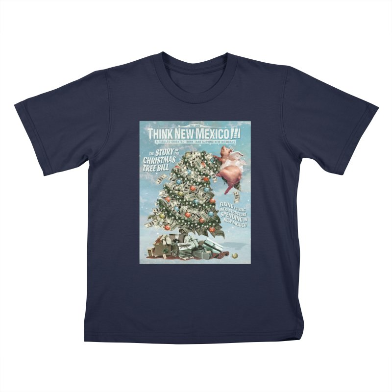 Think New Mexico Fall 2016 Capital Outlay Reform Report Cover Kids T-Shirt by Think New Mexico's Artist Shop