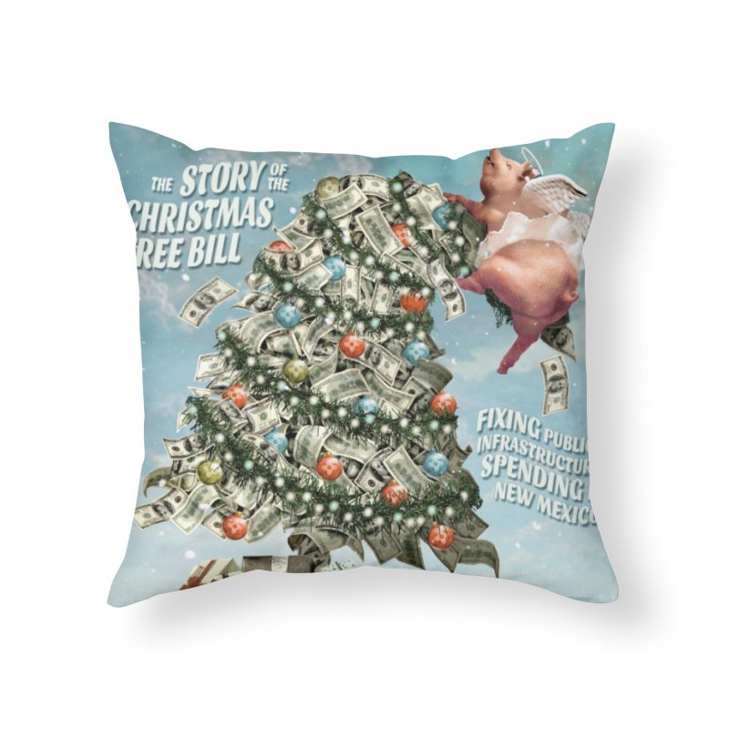 Think New Mexico Fall 2016 Capital Outlay Reform Report Cover Home Throw Pillow by Think New Mexico's Artist Shop