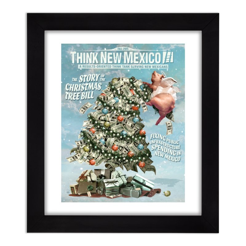 Think New Mexico Fall 2016 Capital Outlay Reform Report Cover Home Framed Fine Art Print by Think New Mexico's Artist Shop