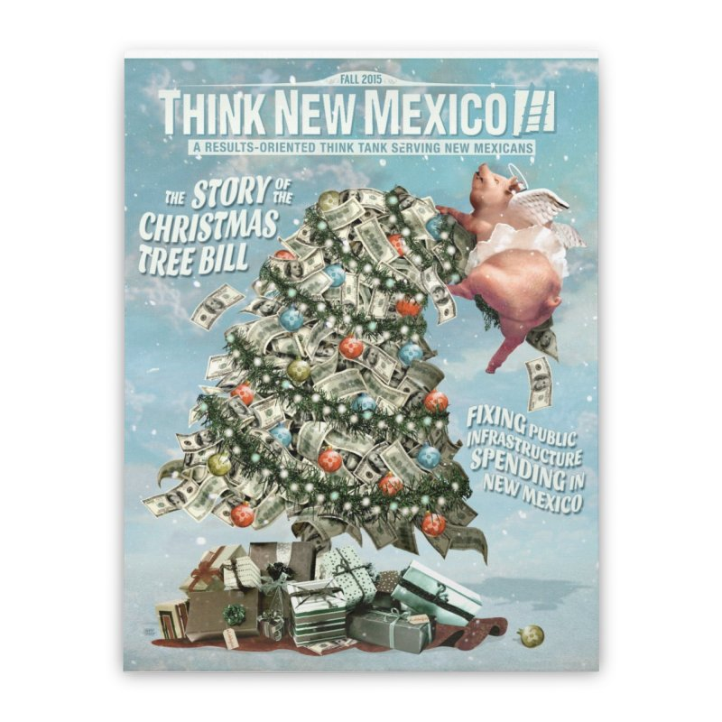 Think New Mexico Fall 2016 Capital Outlay Reform Report Cover Home Stretched Canvas by Think New Mexico's Artist Shop