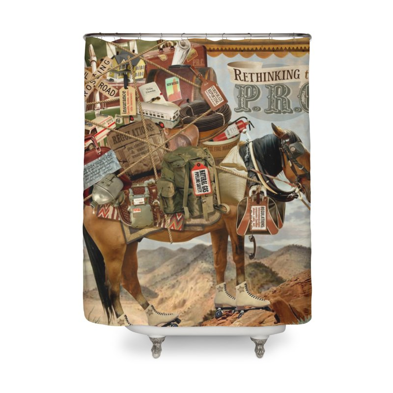 """Think New Mexico Fall 2011 Report Cover """"Rethinking the PRC"""" Home Shower Curtain by Think New Mexico's Artist Shop"""