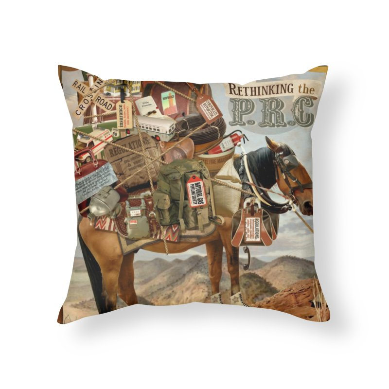 """Think New Mexico Fall 2011 Report Cover """"Rethinking the PRC"""" Home Throw Pillow by Think New Mexico's Artist Shop"""