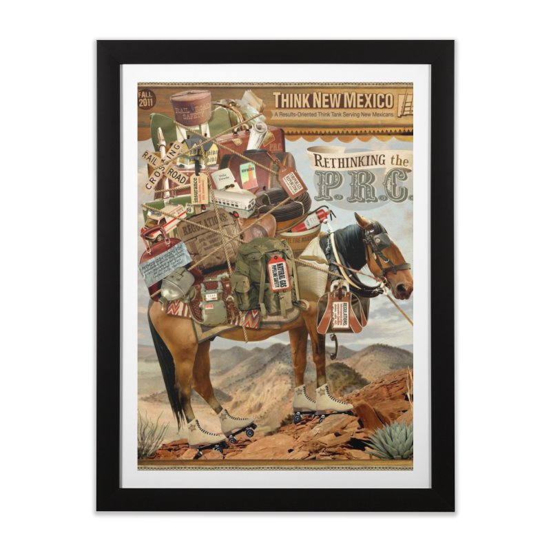 """Think New Mexico Fall 2011 Report Cover """"Rethinking the PRC"""" Home Framed Fine Art Print by Think New Mexico's Artist Shop"""