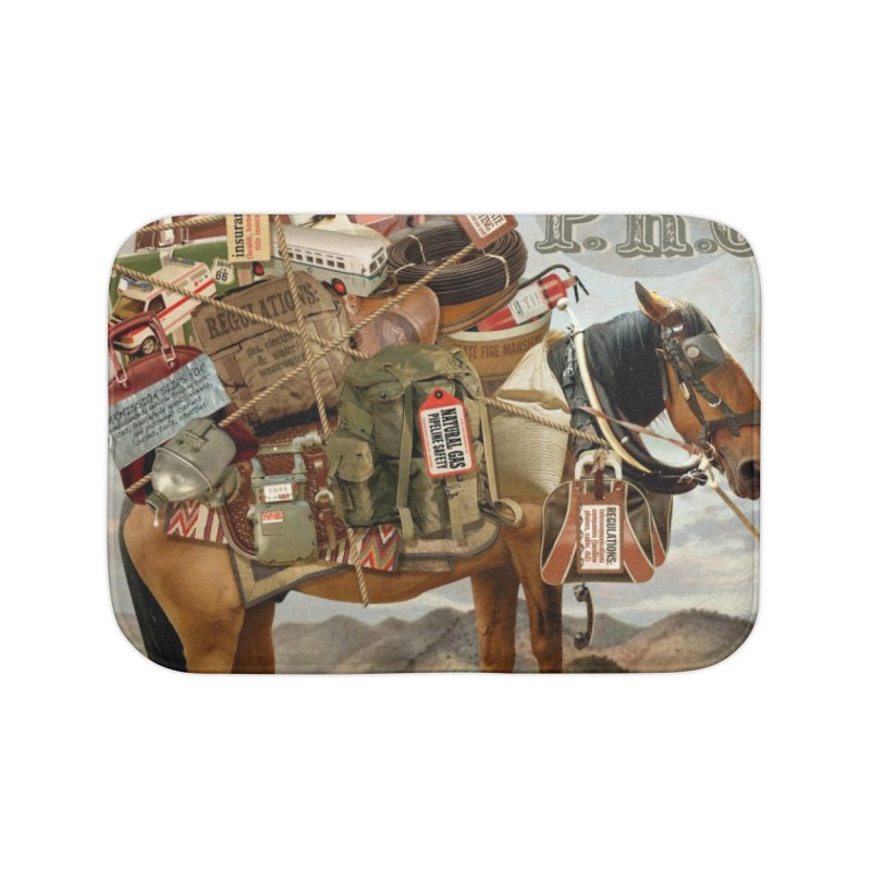 """Think New Mexico Fall 2011 Report Cover """"Rethinking the PRC"""" Home Bath Mat by Think New Mexico's Artist Shop"""