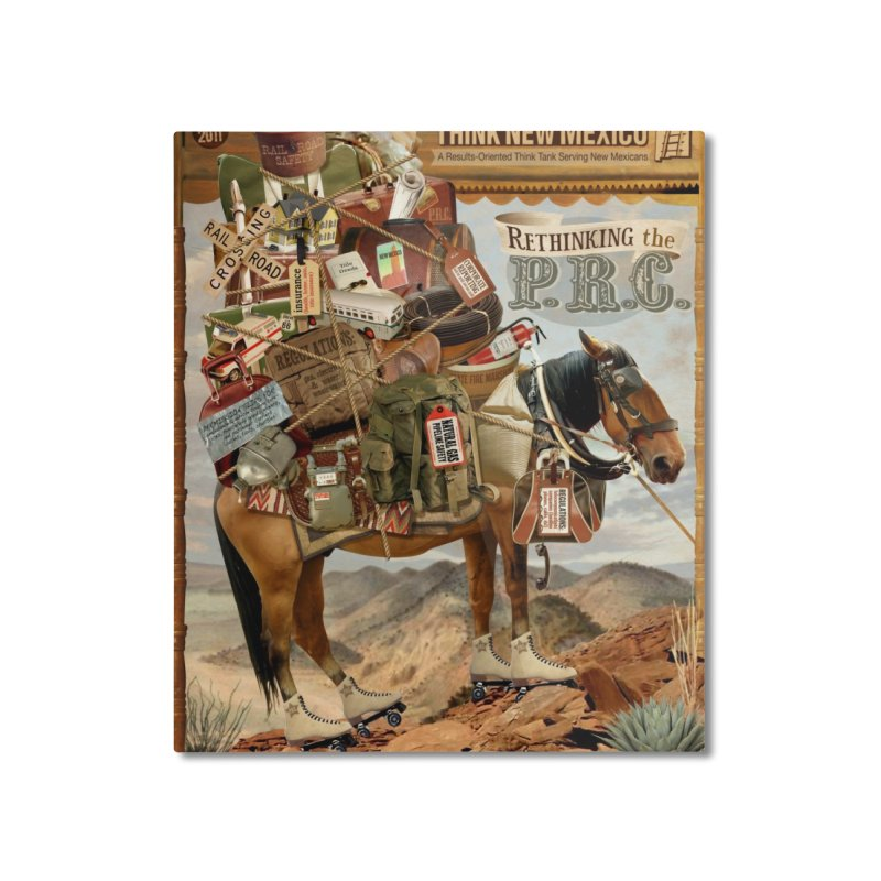 """Think New Mexico Fall 2011 Report Cover """"Rethinking the PRC"""" Home Mounted Aluminum Print by Think New Mexico's Artist Shop"""