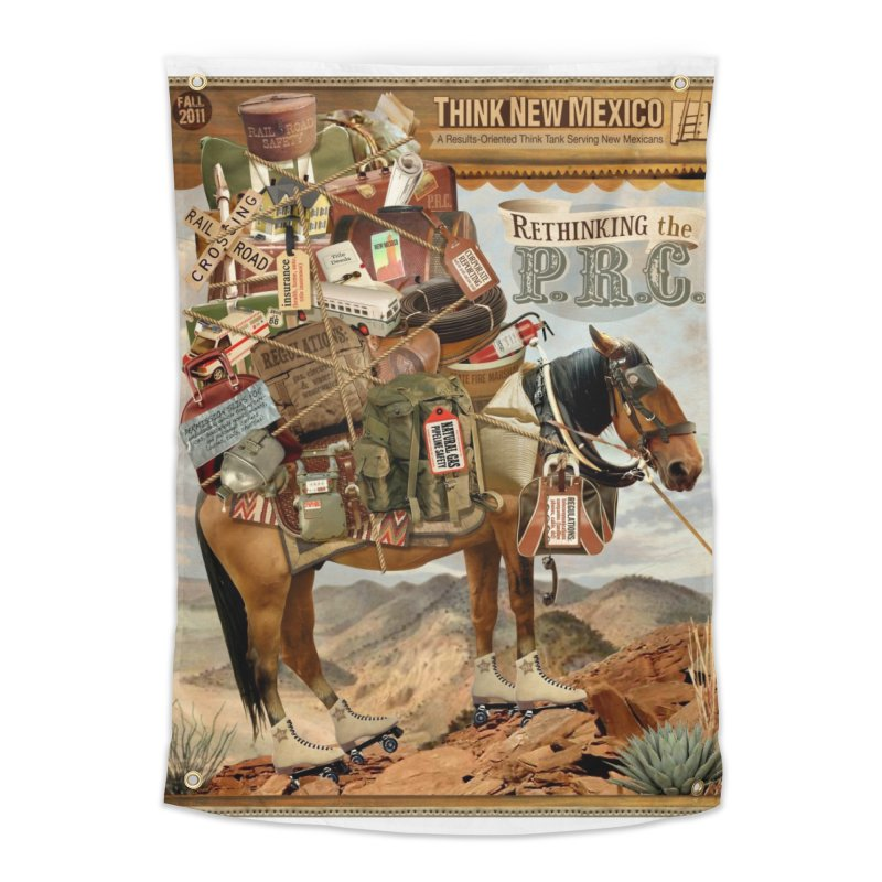 """Think New Mexico Fall 2011 Report Cover """"Rethinking the PRC"""" Home Tapestry by Think New Mexico's Artist Shop"""