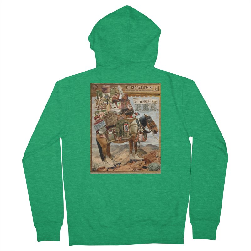 """Think New Mexico Fall 2011 Report Cover """"Rethinking the PRC"""" Men's Zip-Up Hoody by Think New Mexico's Artist Shop"""