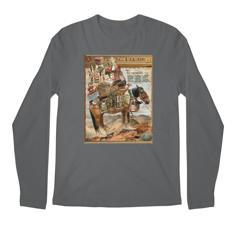 """Think New Mexico Fall 2011 Report Cover """"Rethinking the PRC"""" Men's Longsleeve T-Shirt by Think New Mexico's Artist Shop"""