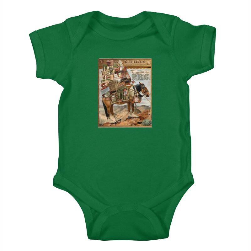 """Think New Mexico Fall 2011 Report Cover """"Rethinking the PRC"""" Kids Baby Bodysuit by Think New Mexico's Artist Shop"""