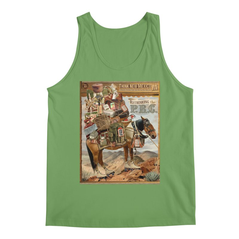 """Think New Mexico Fall 2011 Report Cover """"Rethinking the PRC"""" Men's Tank by Think New Mexico's Artist Shop"""
