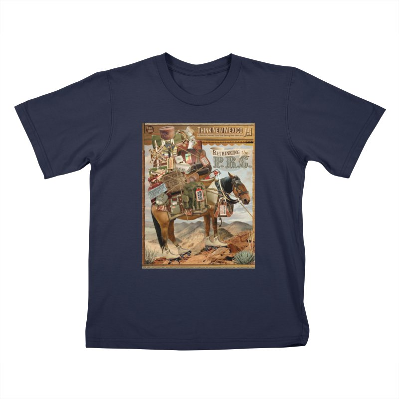 """Think New Mexico Fall 2011 Report Cover """"Rethinking the PRC"""" Kids T-Shirt by Think New Mexico's Artist Shop"""