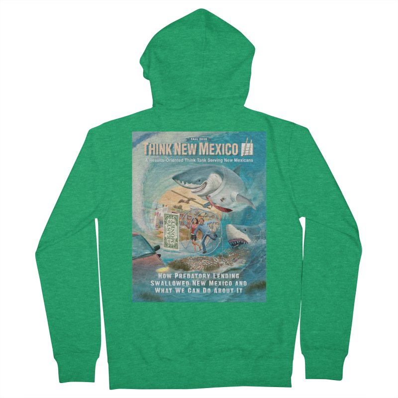 Predatory Lending Report Cover Men's Zip-Up Hoody by Think New Mexico's Artist Shop