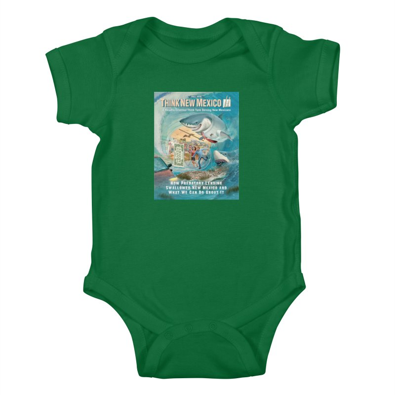Predatory Lending Report Cover Kids Baby Bodysuit by Think New Mexico's Artist Shop