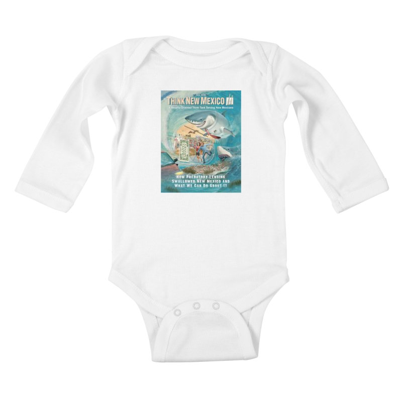Predatory Lending Report Cover Kids Baby Longsleeve Bodysuit by Think New Mexico's Artist Shop