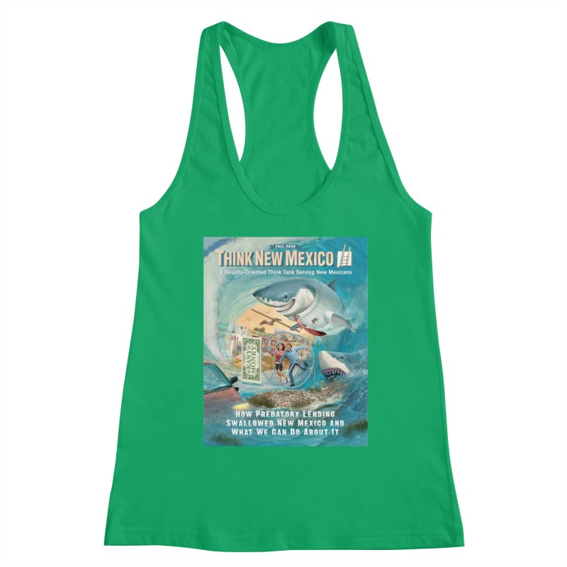 Predatory Lending Report Cover Women's Tank by Think New Mexico's Artist Shop