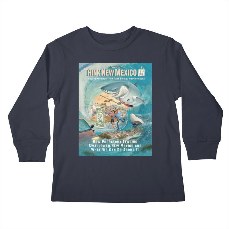 Predatory Lending Report Cover Kids Longsleeve T-Shirt by Think New Mexico's Artist Shop