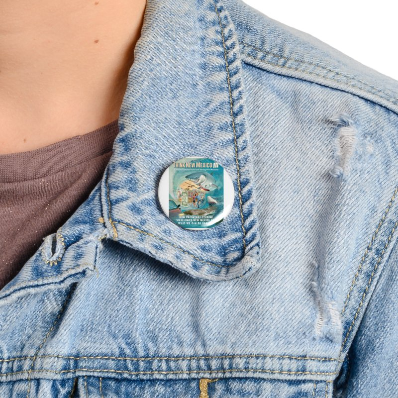 Predatory Lending Report Cover Accessories Button by Think New Mexico's Artist Shop
