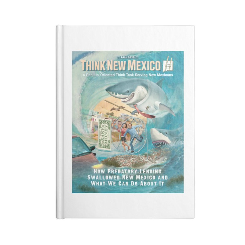Predatory Lending Report Cover Accessories Notebook by Think New Mexico's Artist Shop