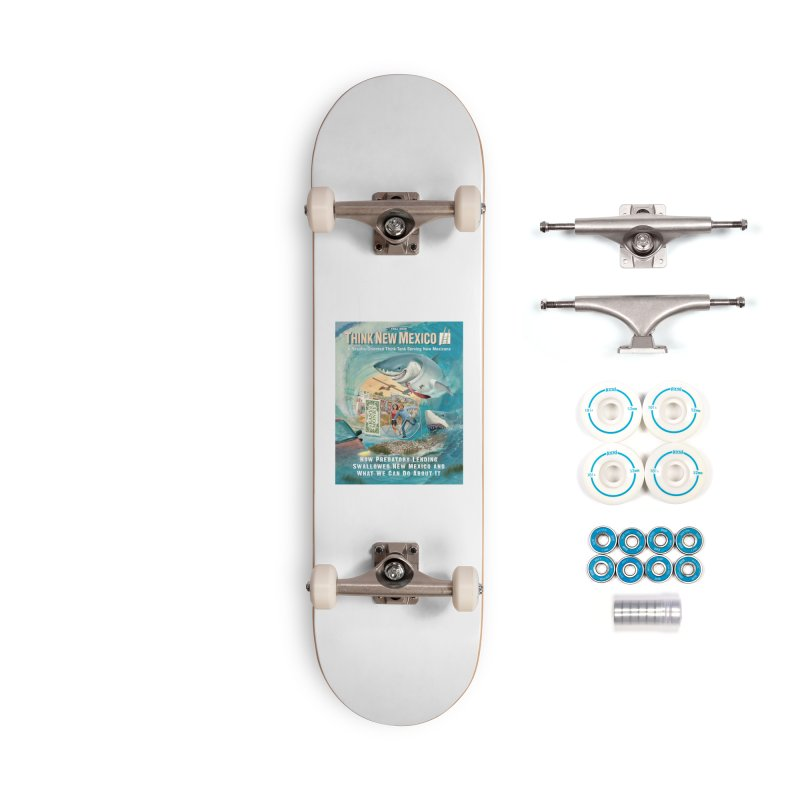 Predatory Lending Report Cover Accessories Skateboard by Think New Mexico's Artist Shop