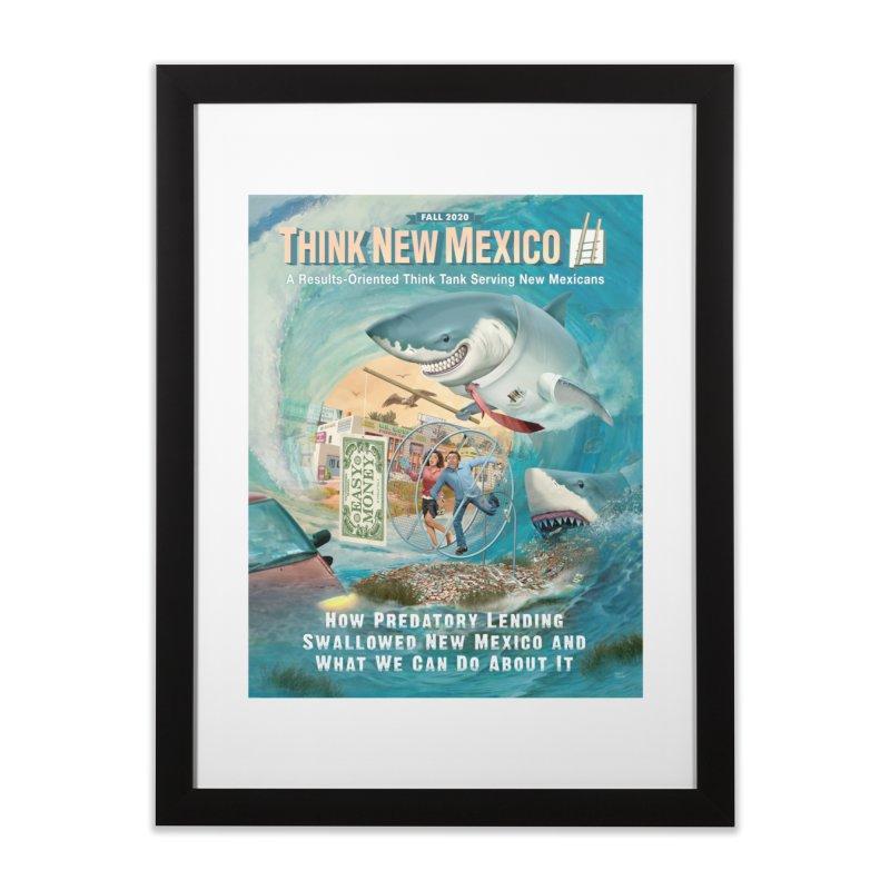 Predatory Lending Report Cover Home Framed Fine Art Print by Think New Mexico's Artist Shop