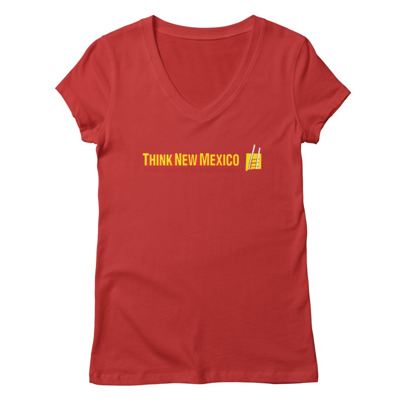 Think New Mexico Women's V-Neck by Think New Mexico's Artist Shop