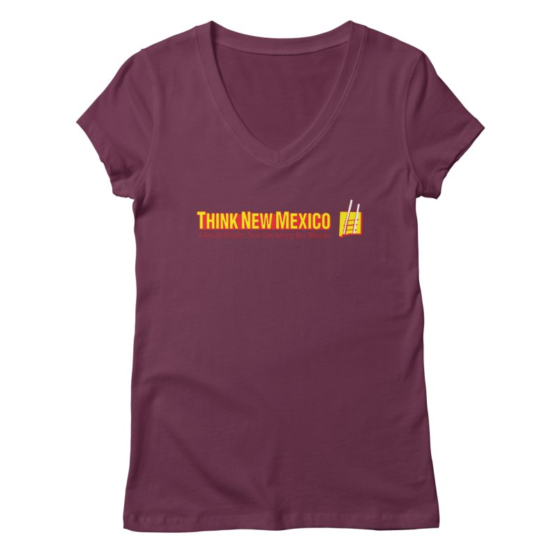 Think New Mexico Women's Regular V-Neck by Think New Mexico's Artist Shop