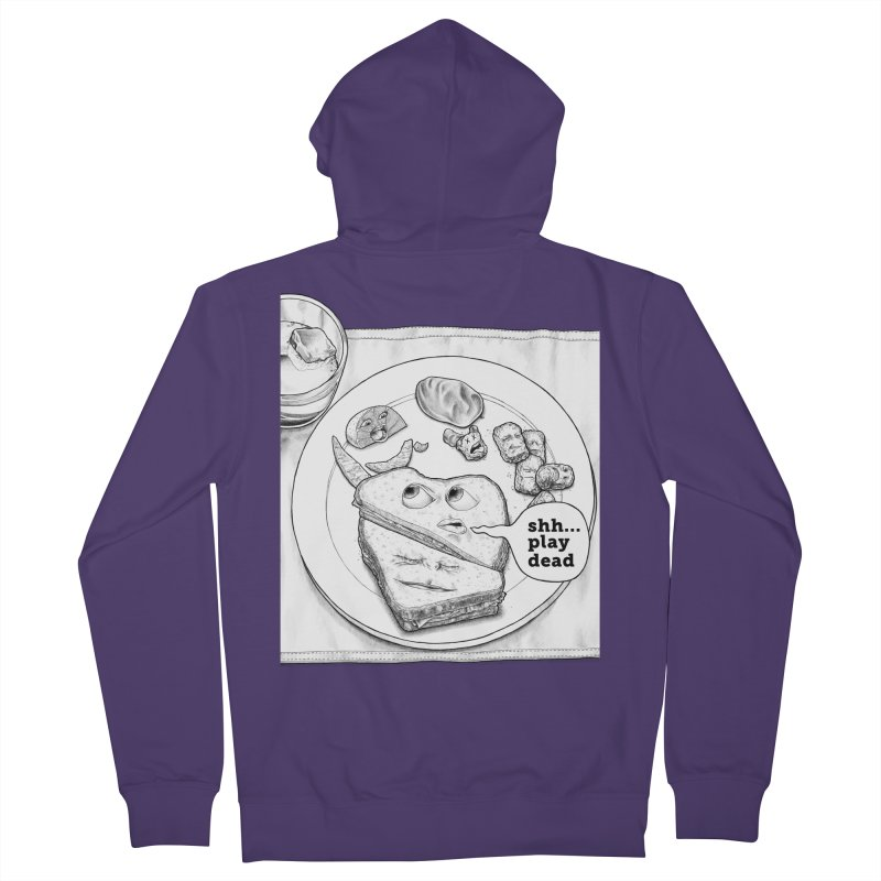 Play Dead Women's French Terry Zip-Up Hoody by Thinkoffbeat / The COUP Shirt Shop