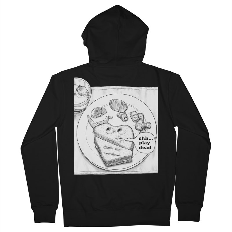 Play Dead Women's Zip-Up Hoody by Thinkoffbeat / The COUP Shirt Shop